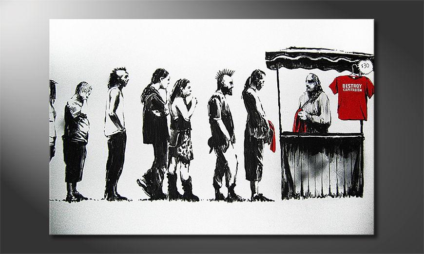 El cuadro moderno Banksy No6