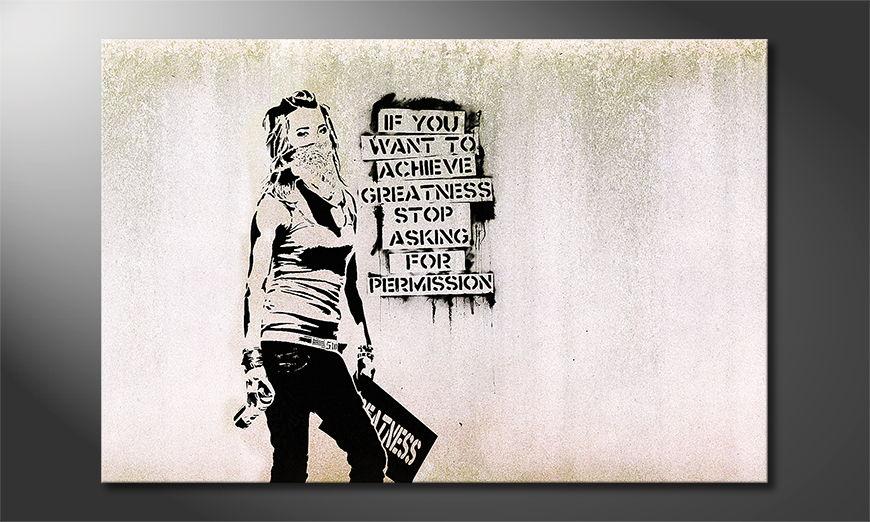El cuadro moderno Banksy No7