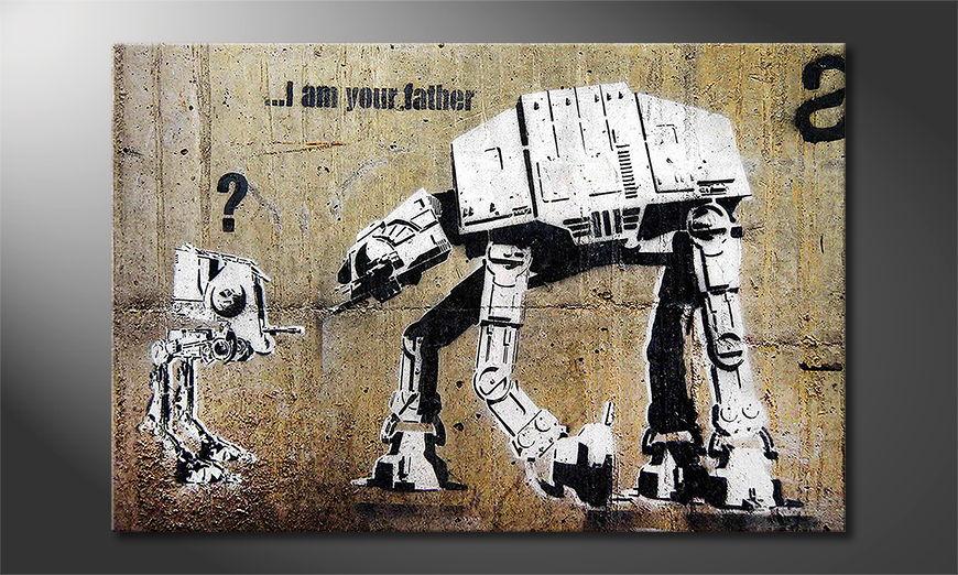 El cuadro moderno Banksy No9