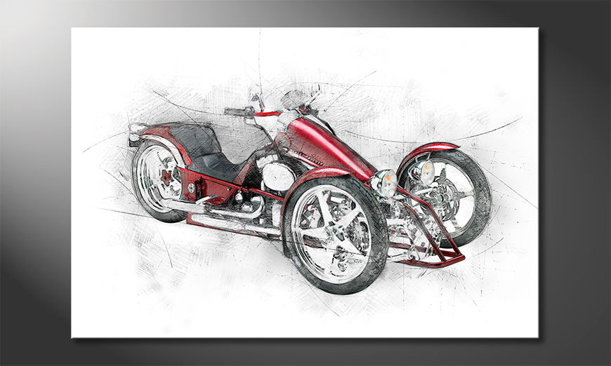 El cuadro moderno Bike 8