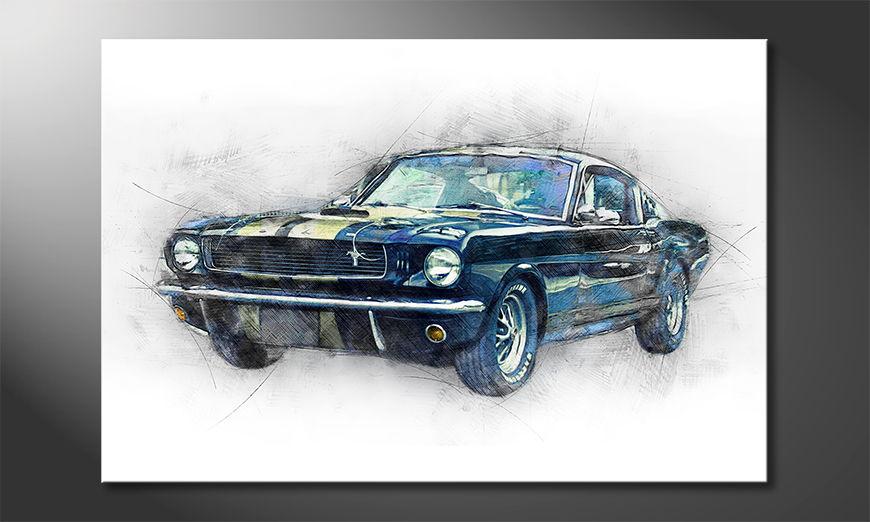 El cuadro moderno Black Mustang