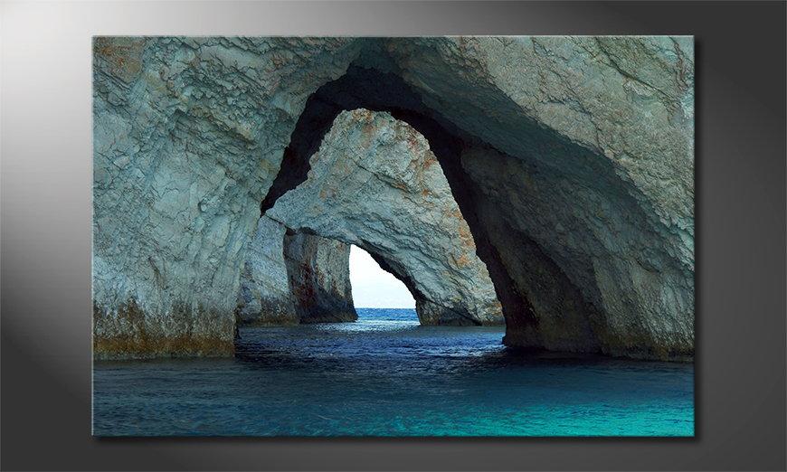 El cuadro moderno Blue Caves