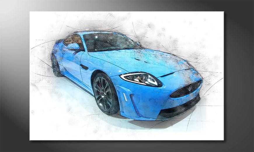 El cuadro moderno Blue Jag