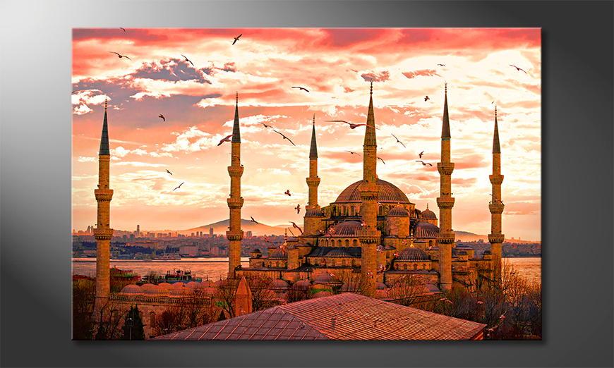 El cuadro moderno Blue Mosque 120x80x2cm