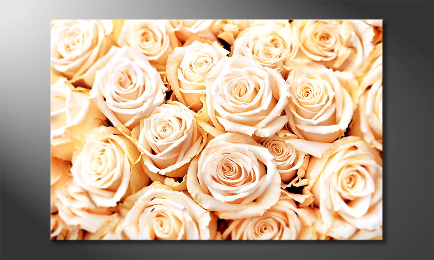 El cuadro moderno Creamy Roses