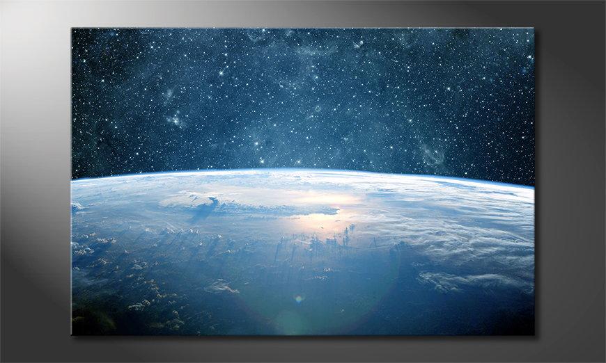 El cuadro moderno Earth Planet I