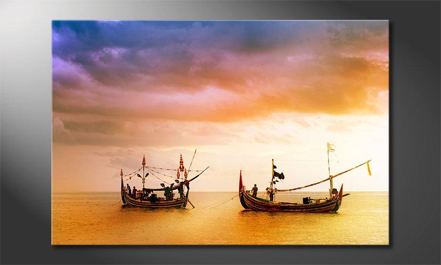 El cuadro moderno Fishing Boats