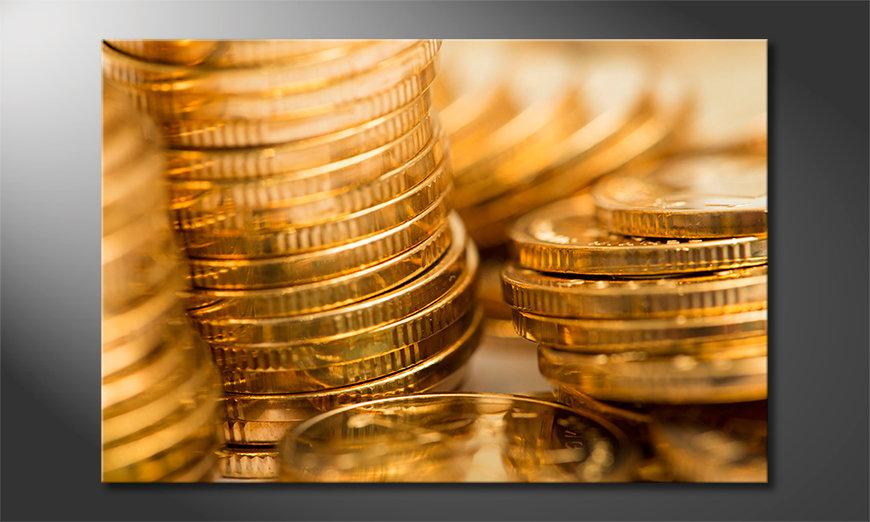 El cuadro moderno Gold Coins