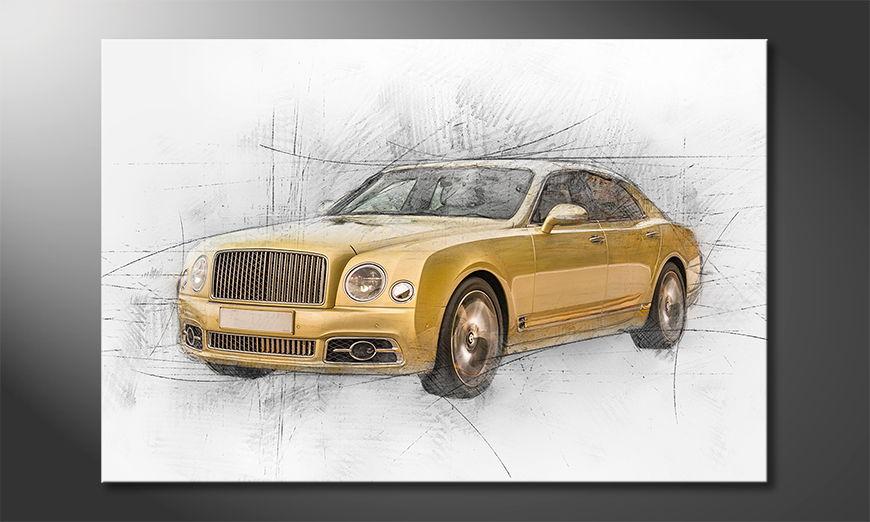 El cuadro moderno Golden Elegance