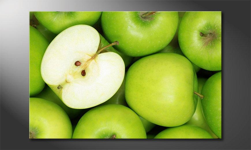 El cuadro moderno Green Apples