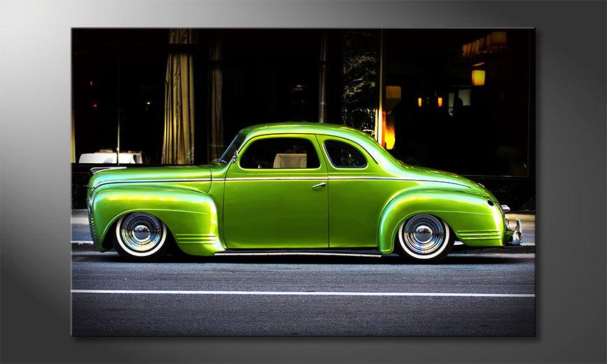El cuadro moderno Green Car