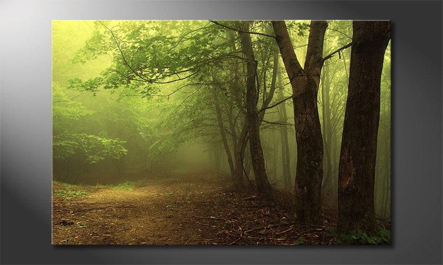 El cuadro moderno Green Forest
