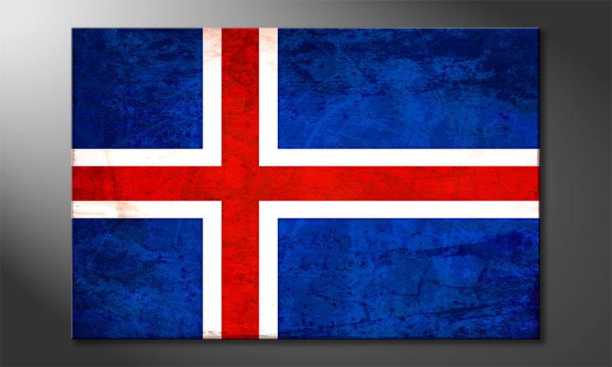 El cuadro moderno Islanda