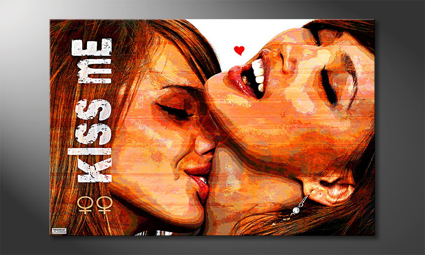 El cuadro moderno Kiss Me