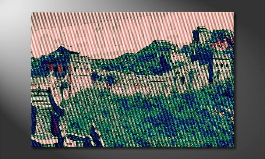 El cuadro moderno La Gran Muralla China