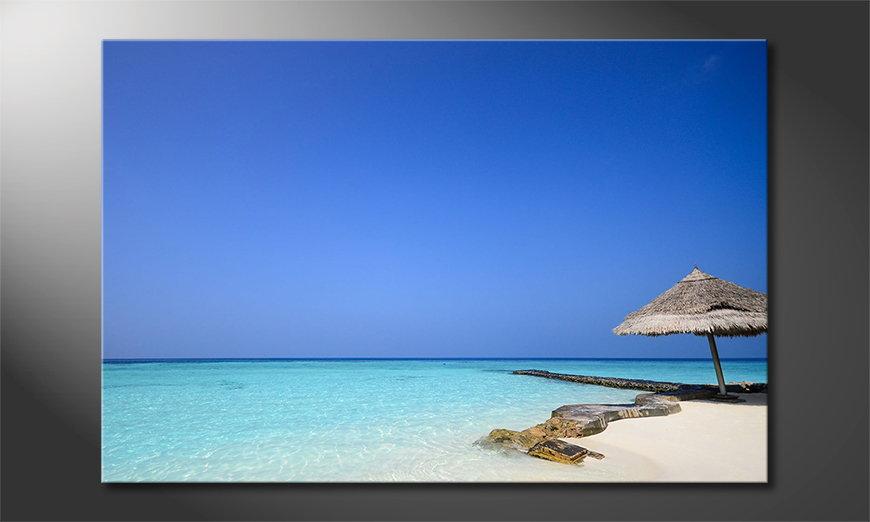 El cuadro moderno Maledives Beach