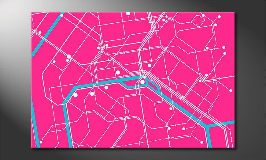 El cuadro moderno Metro Paris