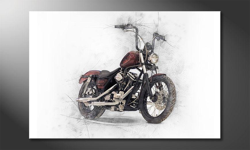 El cuadro moderno Motorbike