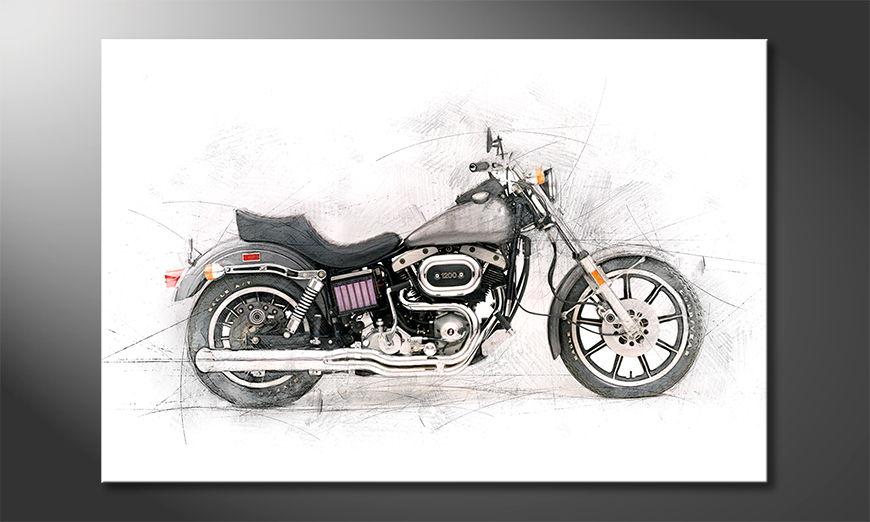 El cuadro moderno Motorcycle