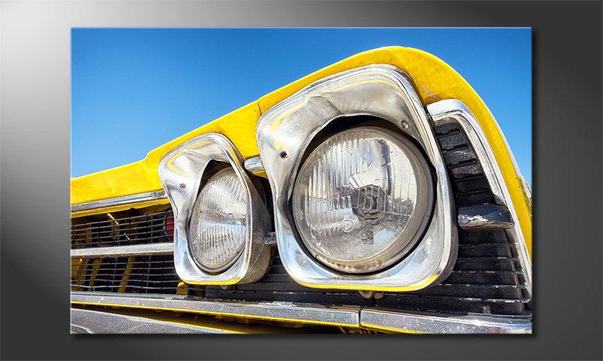 El cuadro moderno Oldtimer Headlights