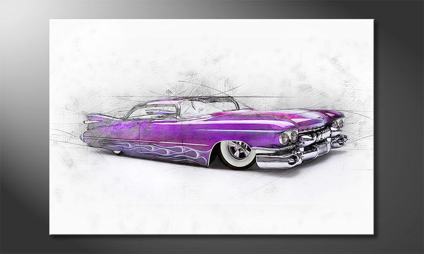 El cuadro moderno Pink Cadillac