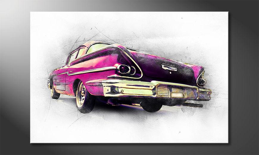 El cuadro moderno Pink Chevrolet