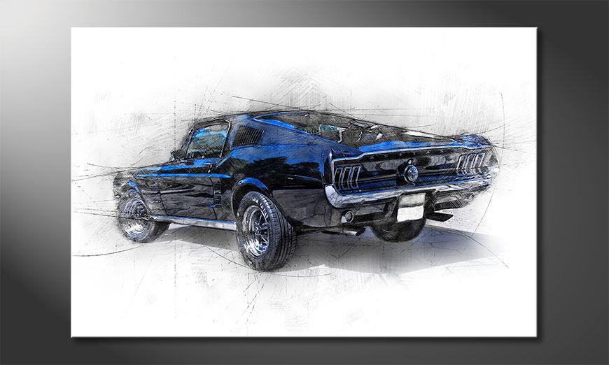 El cuadro moderno Pure Mustang
