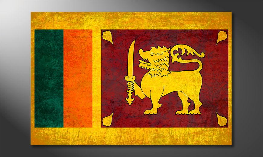 El cuadro moderno Sri Lanka