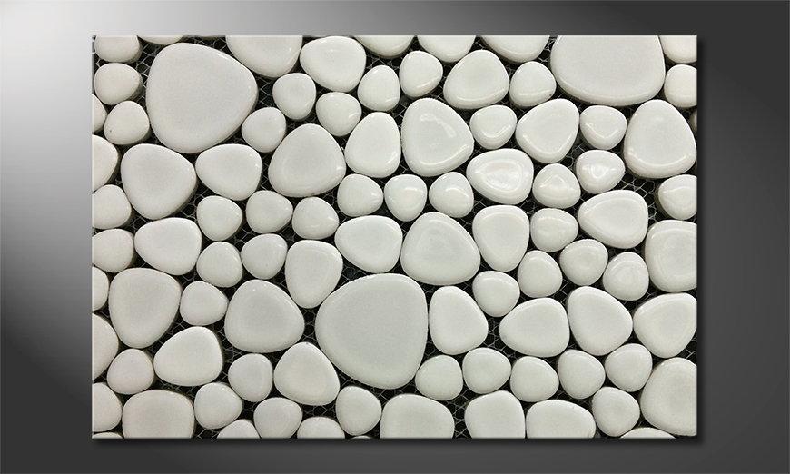 El cuadro moderno Stones Mosaic