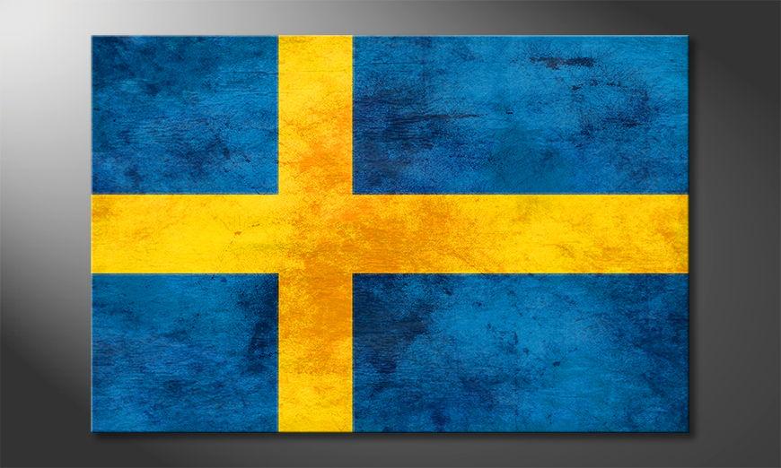 El cuadro moderno Suecia
