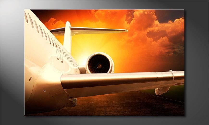 El cuadro moderno Sunset Flight