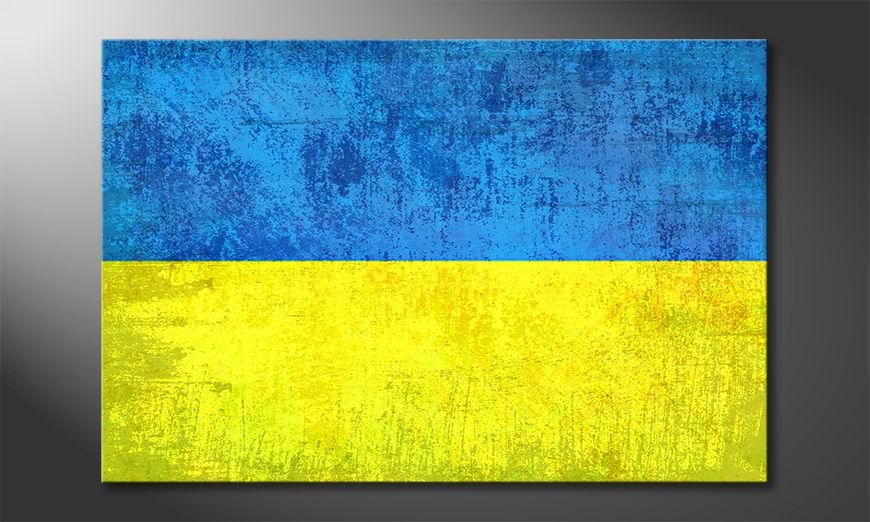 El cuadro moderno Ucrania