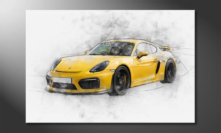 El cuadro moderno Yellow Power