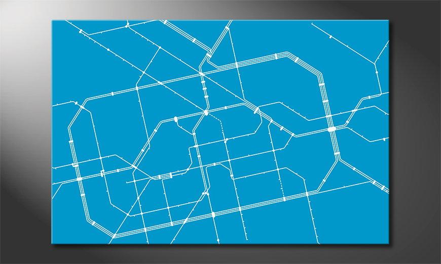 El llamativo cuadro Metro Berlin