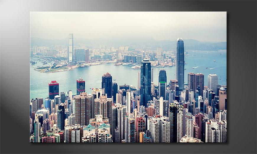Hongkong Skyline Cuadro