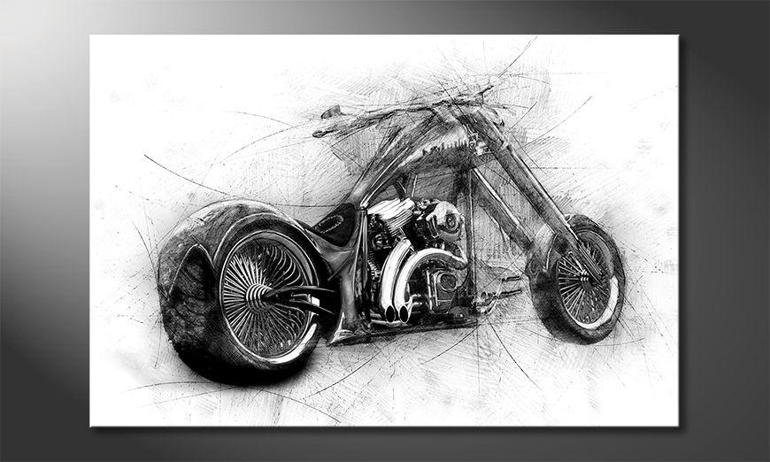 Impresión de arte moderno Bad Bike