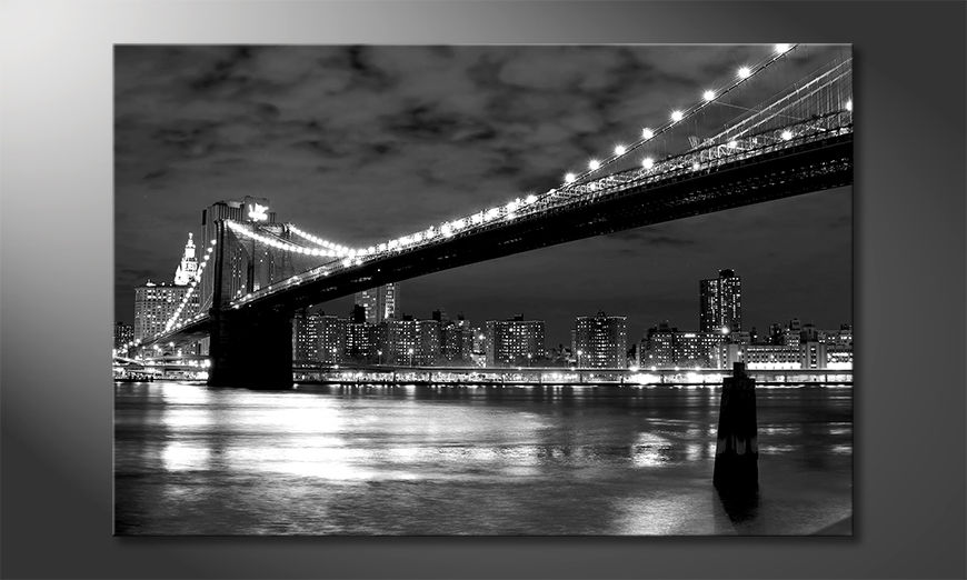 Impresión de arte moderno Brooklyn Bridge