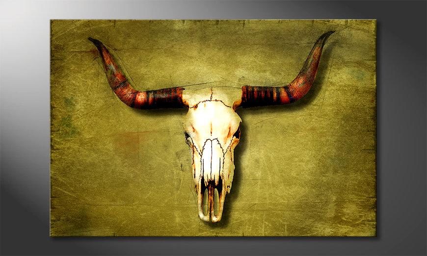 Impresión de arte moderno Buffalo Bull