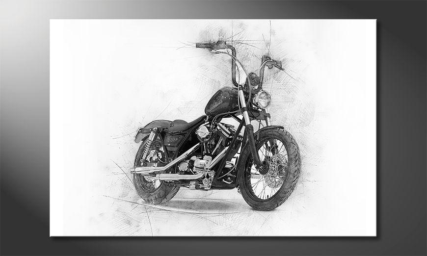 Impresión de arte moderno Classic Motorcycle