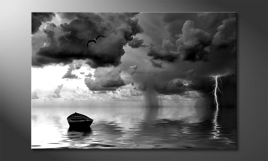 Impresión de arte moderno Lonely Boat