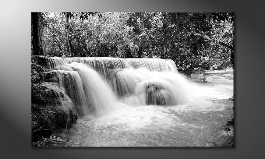 Impresión de arte moderno Waterfall In Jungle
