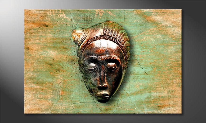 Impresión de la lona African Mujer
