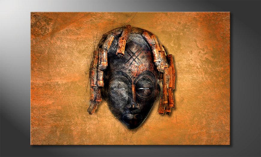 Impresión de la lona Black Face