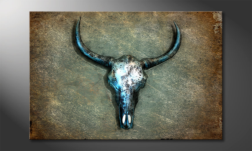 Impresión de la lona Buffalo Skull