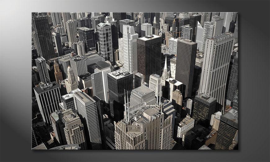 Impresión de la lona City of Chicago