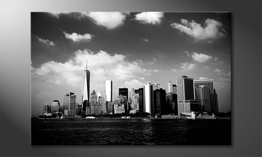 Impresión de la lona Manhattan Skyscrapers