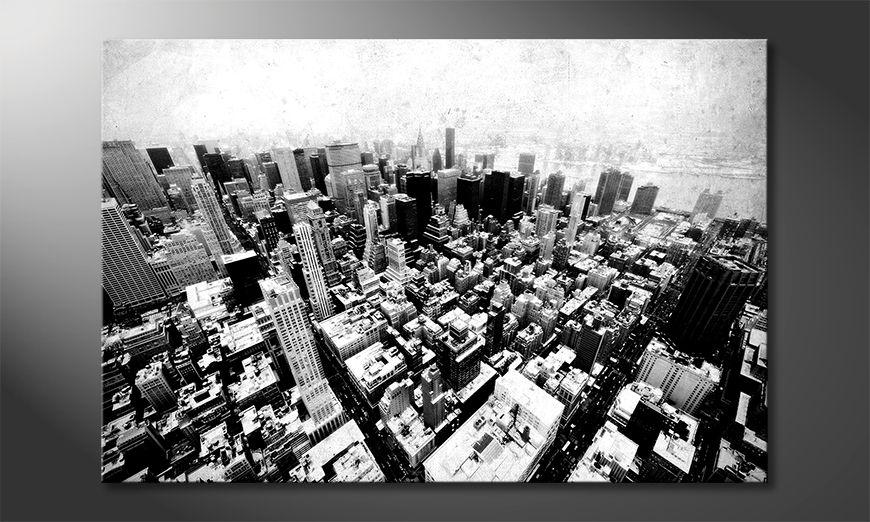 Impresión de la lona New York Vintage