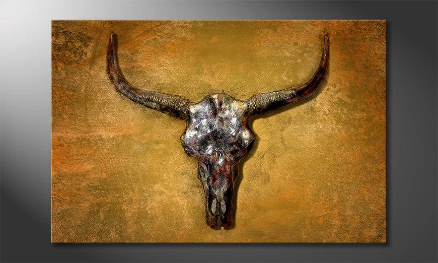 Impresión de la lona Texas Buffalo