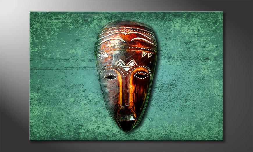 Impresión de la lona Wood Face