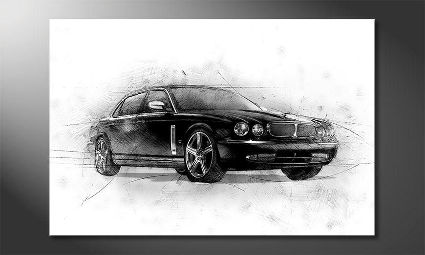 La bonita pintura Black Jag